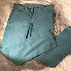 NEW Dockers Men's Blue Khaki pant Alpha Slim 33x34